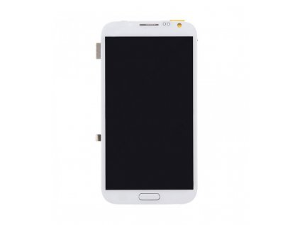 LCD displej s dotykovou plochou s rámom Samsung Galaxy Note 2  biela farba