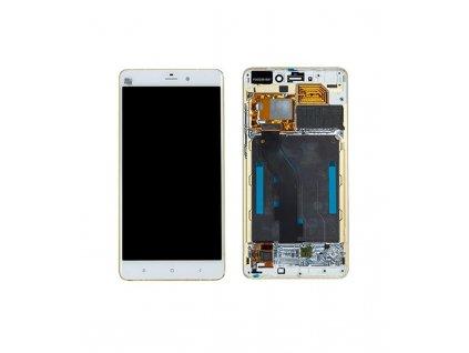 LCD Displej a dotyková plocha s rámom Xiaomi Mi Note Pro biela farba