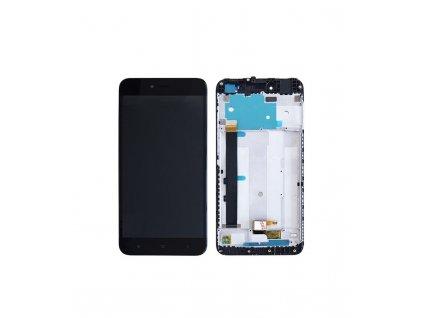 LCD displej a dotyková plocha s rámom Xiaomi Redmi Note 5A MDG6 štandardná verzia čierna farba