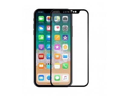 Ochranné tvrdené sklo Full Glue iPhone XR 5D čierna farba
