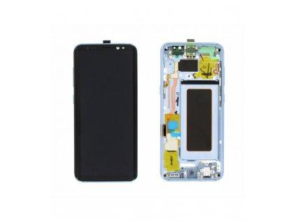 LCD displej a dotyková plocha OEM Samsung S8 G950F s rámom modrý