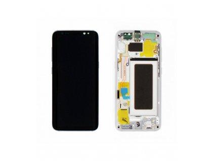 LCD displej a dotyková plocha OEM Samsung S8 G950F s rámom strieborný