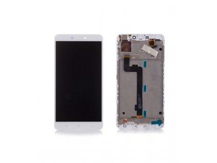 LCD Displej + Dotykové sklo Xiaomi Mi Max 2 s rámom biela farba