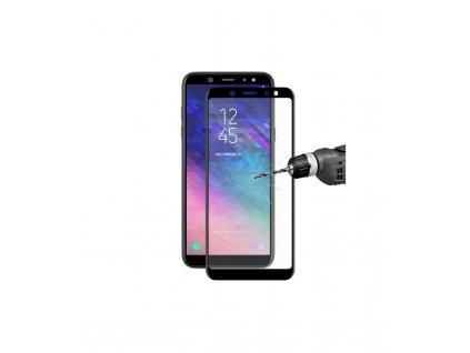 Ochranné tvrdené sklo 3D Samsung A6 Plus 2018 čierna farba