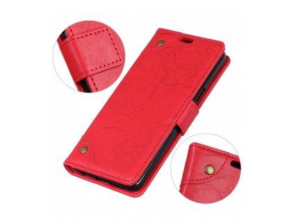 Knižkové puzdro Retro na Xiaomi Redmi 6 / 6A červené