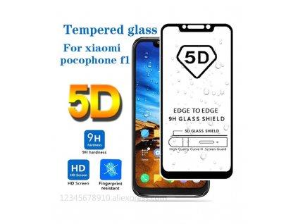 5D 9H ochranné tvrdené sklo Xiaomi Pocophone F1 čierna farba