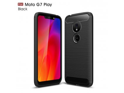 Puzdro Lenovo Moto G7 Play karbónová textúra čierne