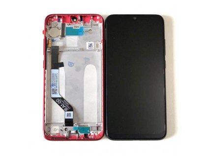 LCD displej a dotyková plocha s rámom Xiaomi Redmi Note 7 červená farba