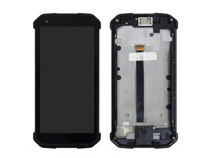 LCD Displej a dotyková plocha s rámom Blackview BV9500 (BV9500 Pro) čierna farba