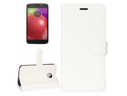 Puzdro Motorola Moto E4 knižkové biela farba