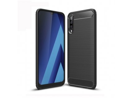 Puzdro Samsung Galaxy A70 karbónová textúra čierna farba