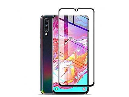 5D Tvrdené ochranné sklo Samsung Galaxy A80/A90 čierna farba