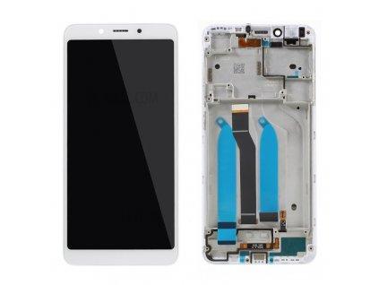 LCD Displej + Dotykové sklo Xiaomi Redmi 6 s rámom biela farba
