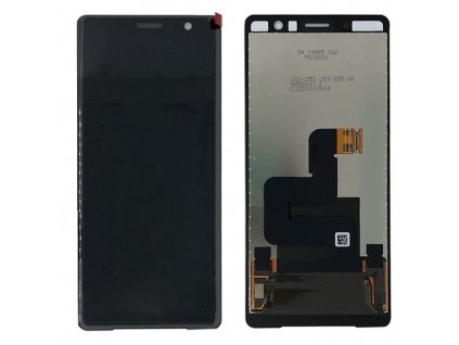 Originál LCD displej a dotyková plocha Sony Xperia XZ2 Compact čierna farba