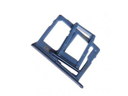 Držiak SIM karty a pamäťovej karty Samsung Galaxy J4 / J6 / J8  modrá DUAL