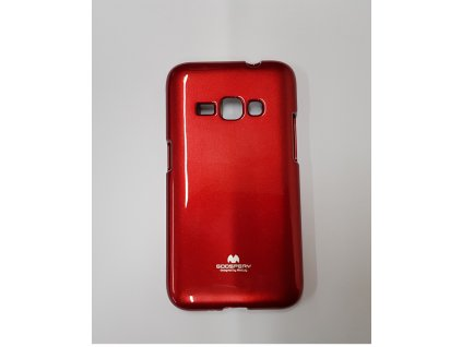 Puzdro Samsung Galaxy J1 2016 Jelly Case červená farba