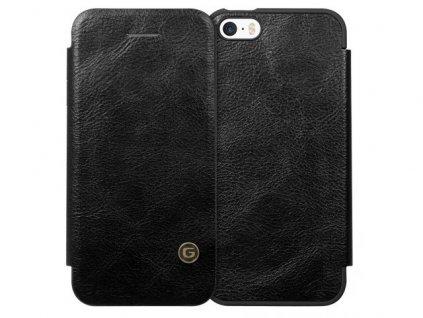 Knižkové Puzdro iPhone SE G-Case čierne