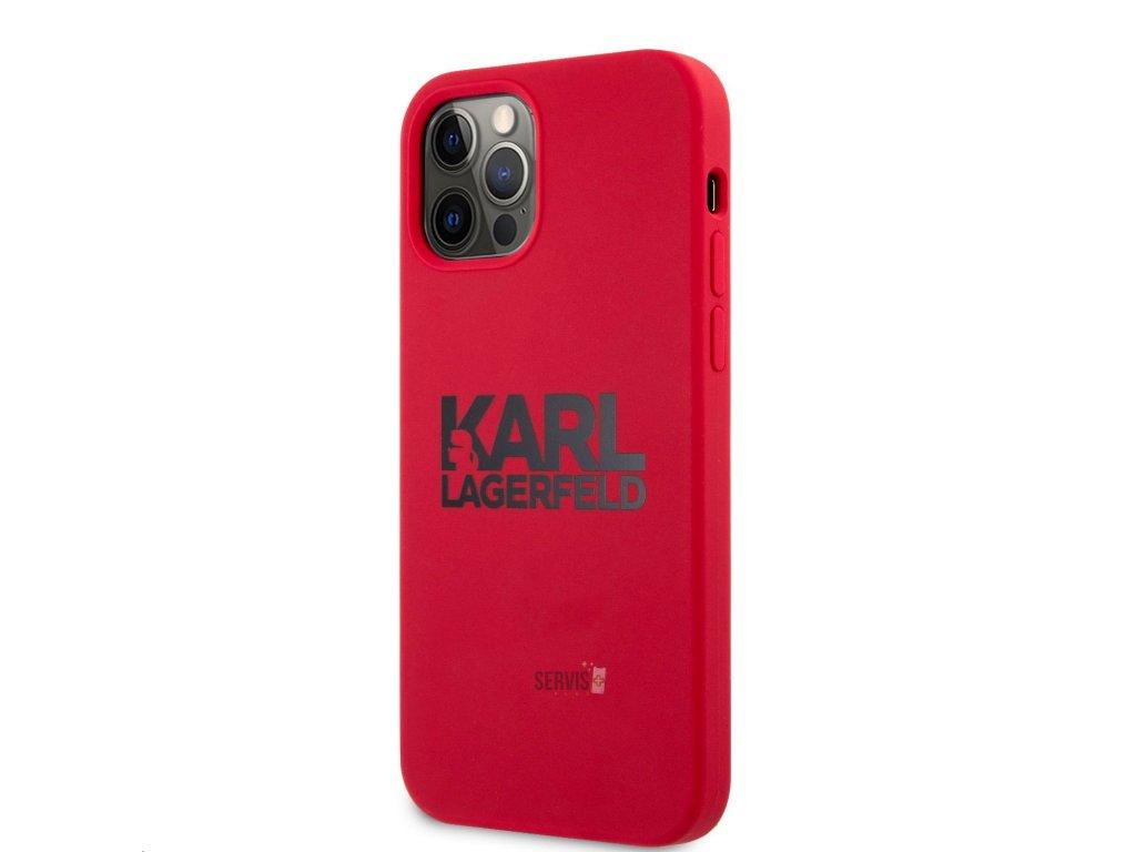klhcp12mslklre stack black logo silikonovy kryt pro iphone 12 12 pro 6 1 red 6350059