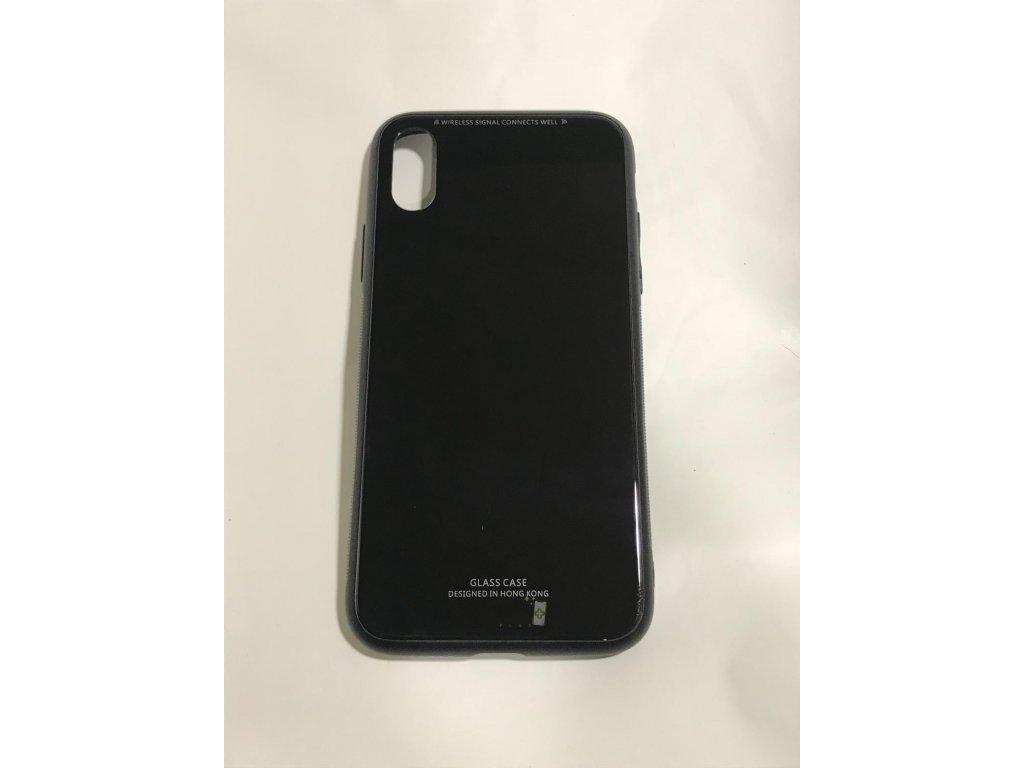 GLASS CASE BLACK - iPhone X/XS