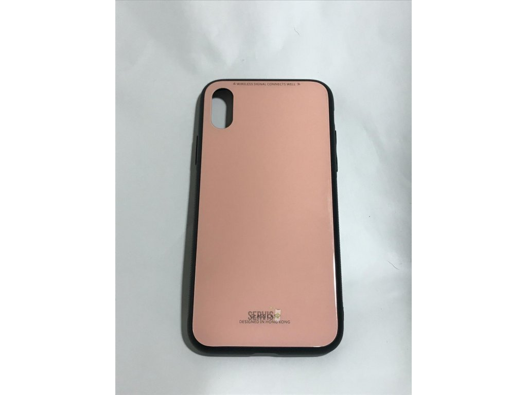 GLASS CASE PINK - iPhone X/XS