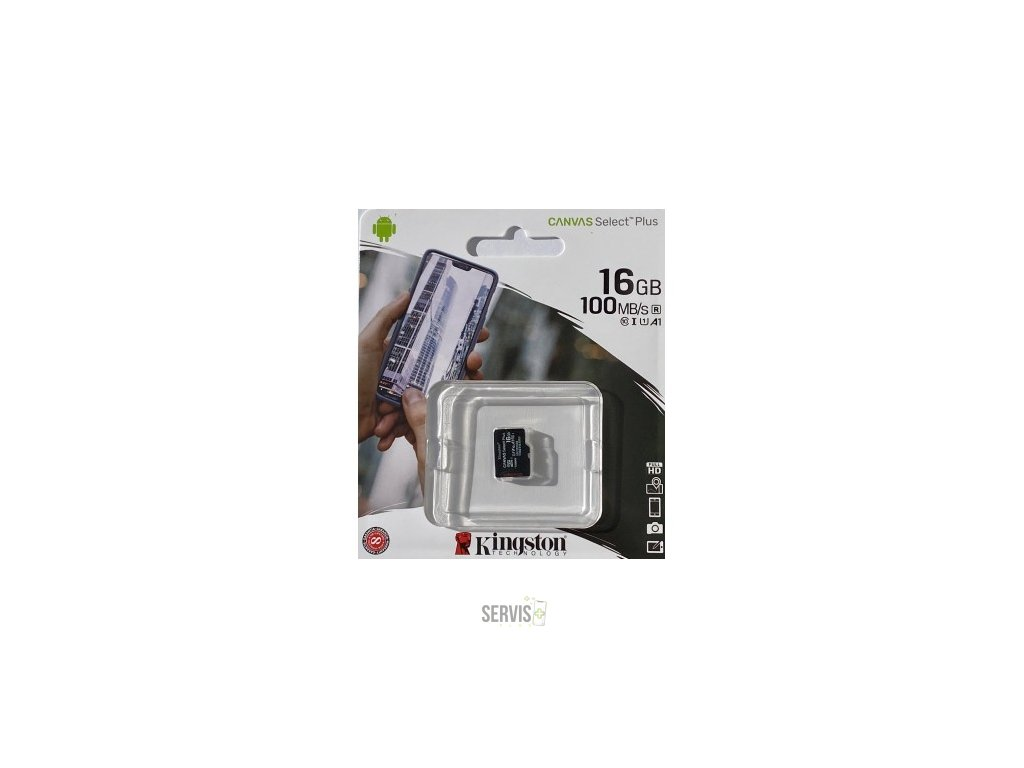 kingston canvas select plus micro sdhc 16gb class 10 uhs i 100mbs sdcs216gbsp