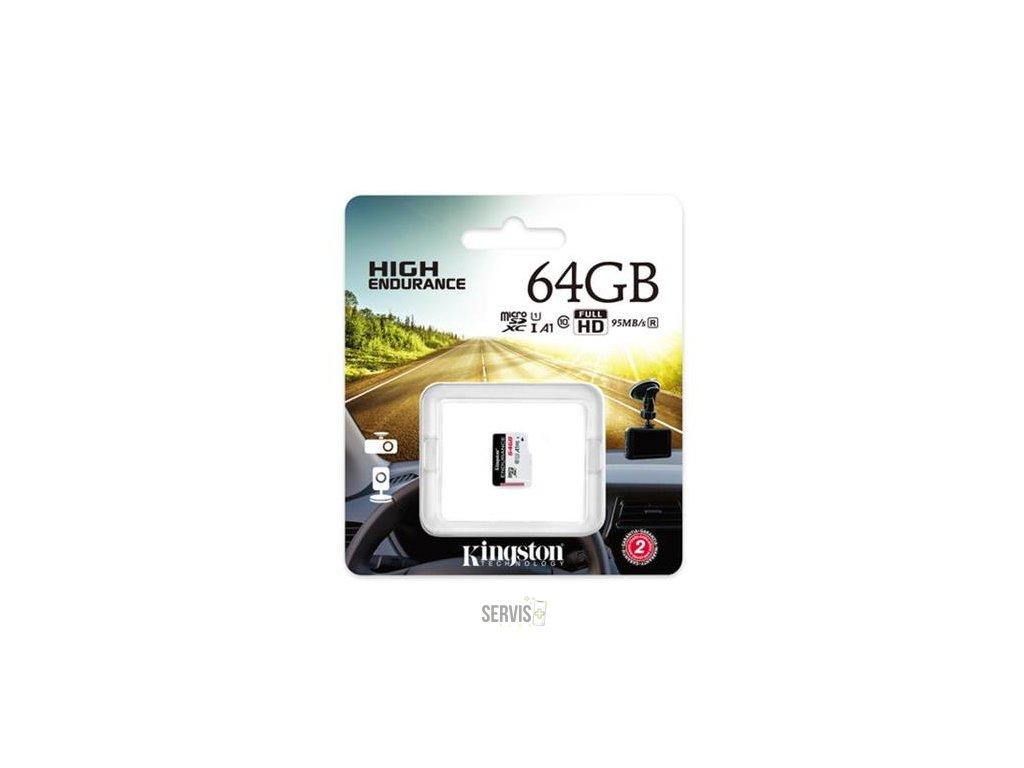 kingston 64gb microsdhc endurance 95r 30w c10 a1 uhs i bez adapteru ien384917