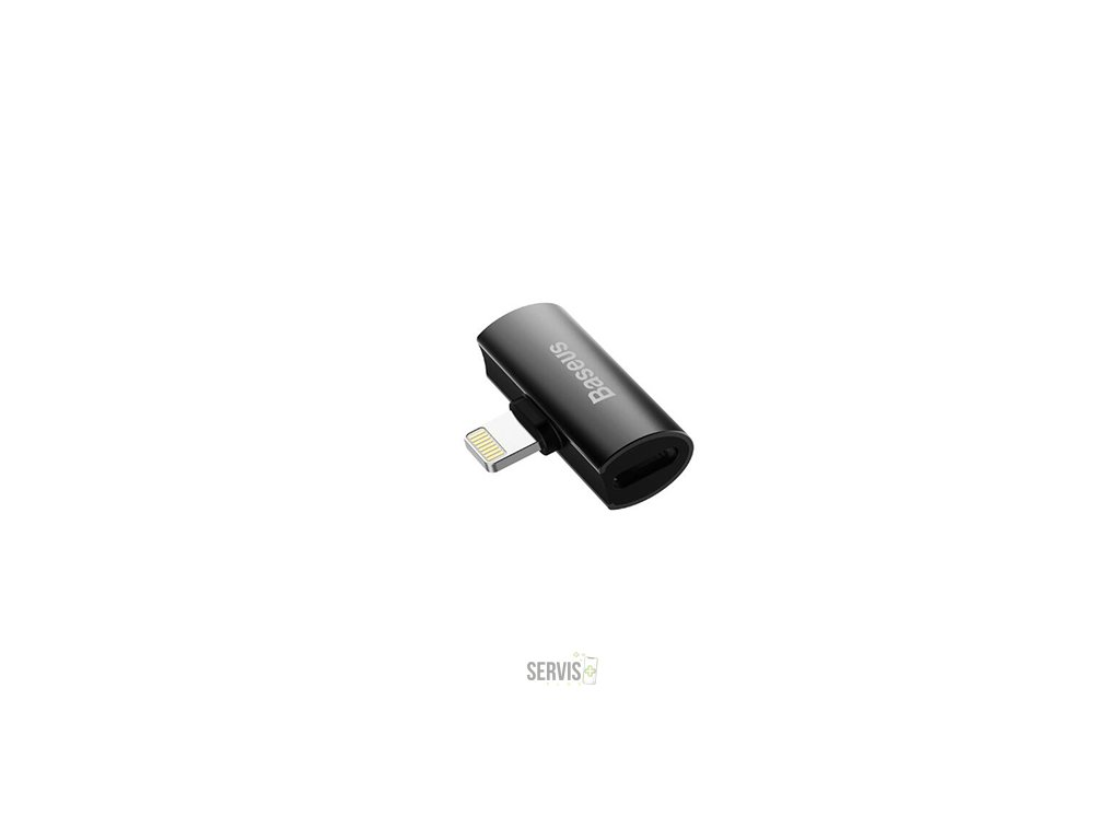 Baseus L46 iPhone adaptér na 2x lighting port (samica) čierna