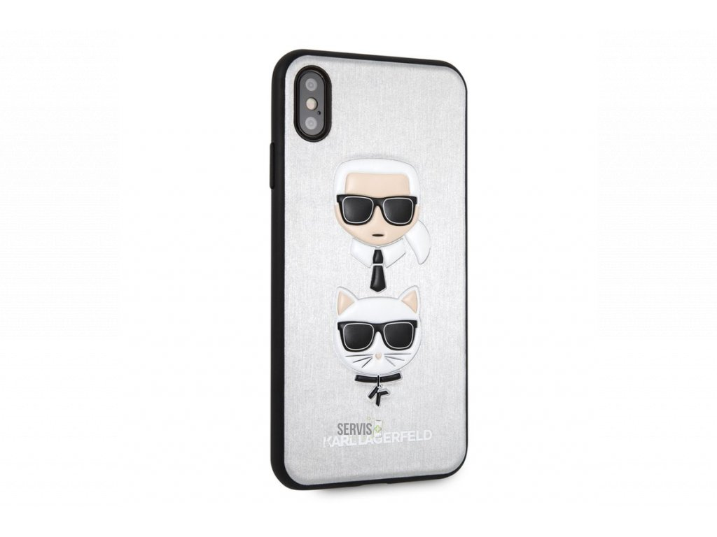klhci65kickcssi karl lagerfeld karl and choupette silver hard case pro iphone xs max 1200x800