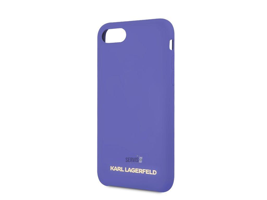 klhci8slvog karl lagerfeld gold logo silicone case violet pro iphone 7 8 2