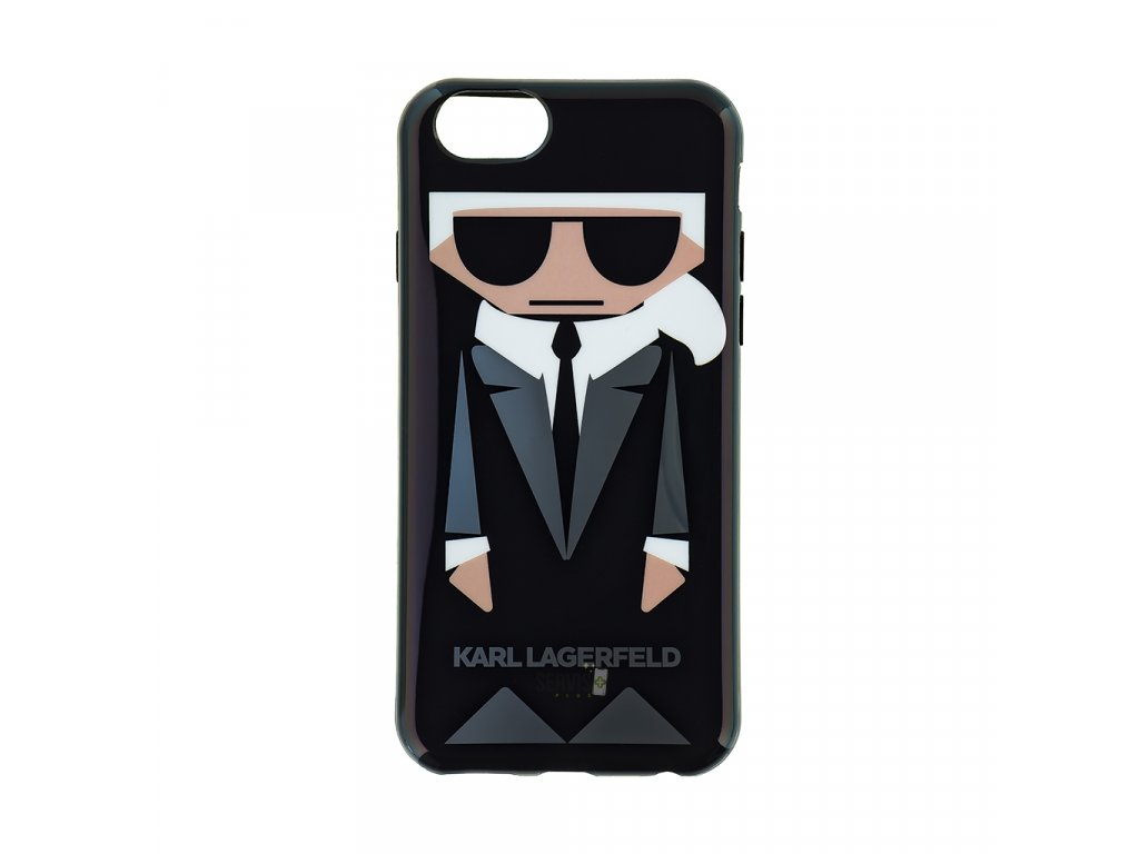 klhcp6kkoro karl lagerfeld karl and choupette tpu case black pro iphone 6 6s