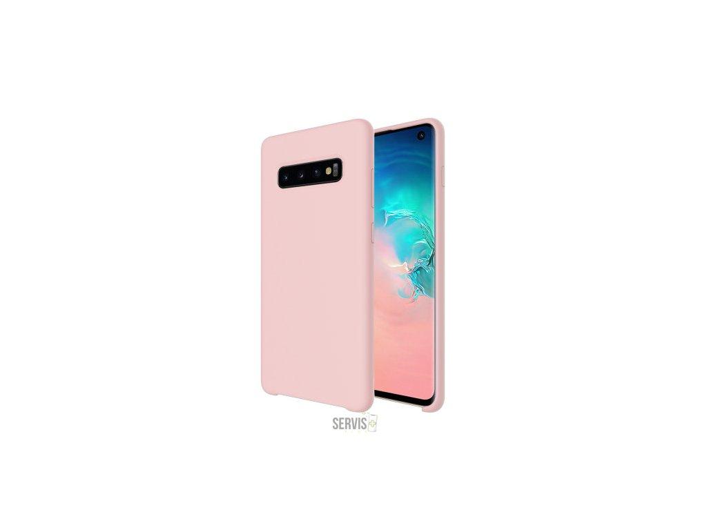 Silikónový obal - Samsung S10 Plus ružový