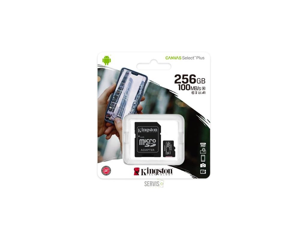 Kingston 256GB Micro SDXC Canvas Select Plus