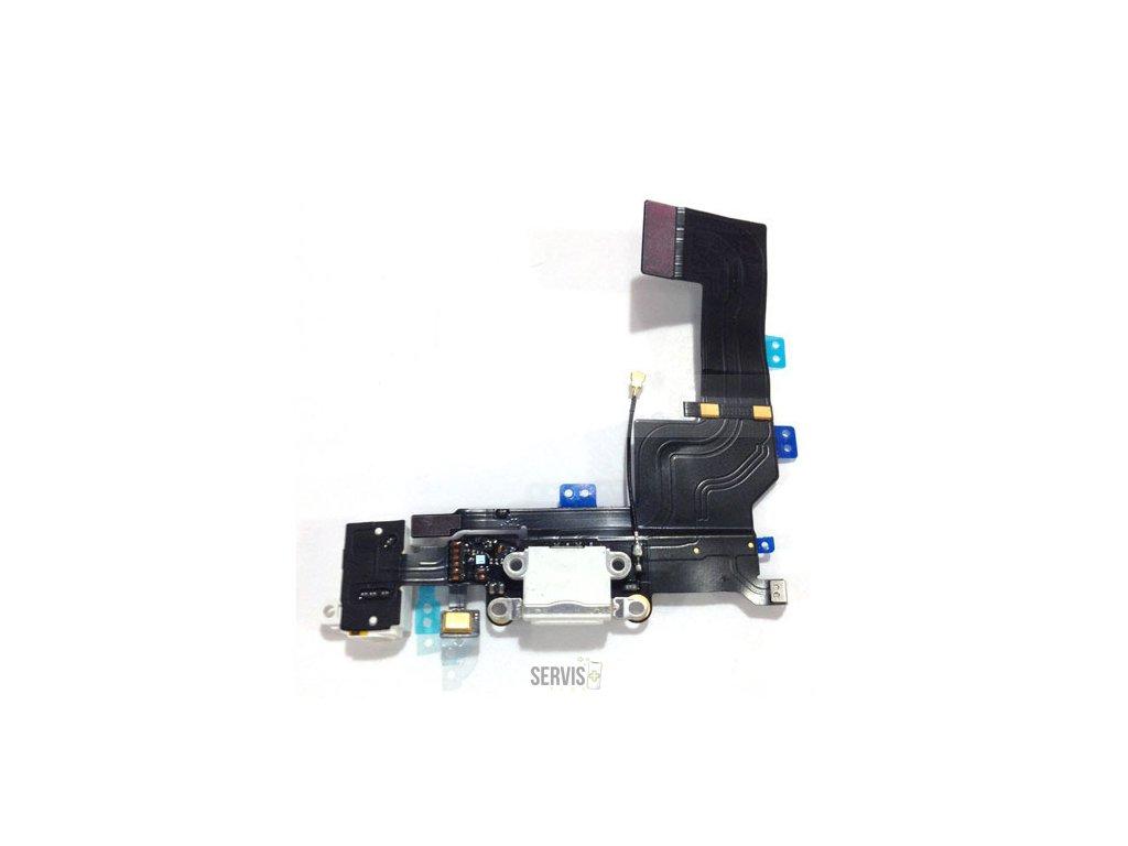 iPhone 5S - Flex kábel nabíjacieho konektora biely
