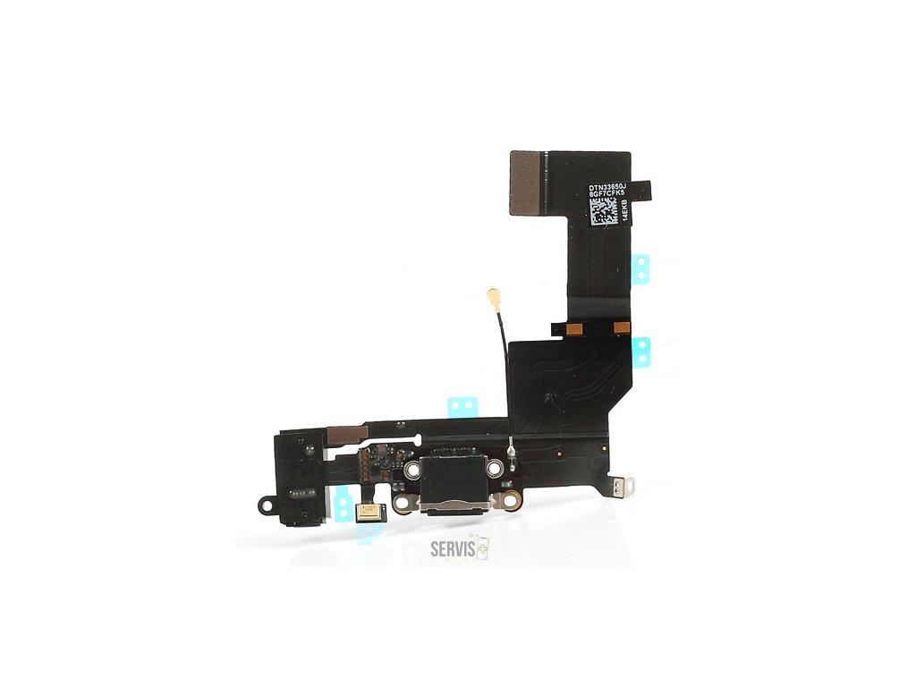 iPhone 5S - FLEX KÁBEL NABÍJACIEHO KONEKTORA (ČIERNA) ORIGINÁL
