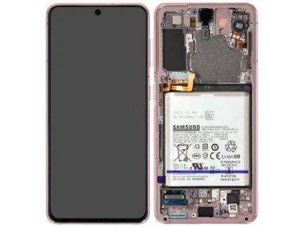 Samsung Galaxy S21 5G (G991) - Displej ružový originál