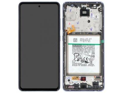 Samsung Galaxy A52 / 5G (A525, A526) - Displej + rám fialový originál