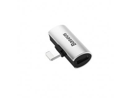 Baseus L46 iPhone adaptér na 2x lighting port (samica) strieborná