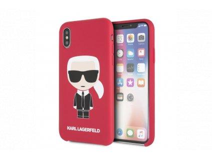 klhcpxslfkre karl lagerfeld iconic bull body silikonove pouzdro pro iphone x xs red 1200x800