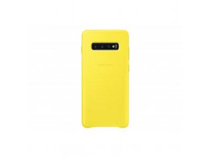 samsung leather cover s10 yellow ef vg975lyegww