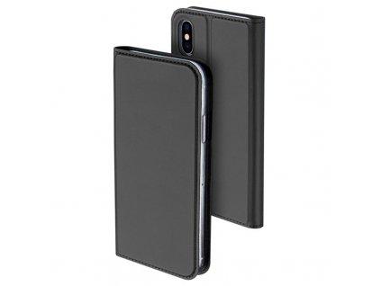Dux Ducis Skin Pro Series Flip Case for iPhone X XS Dark Grey 11062019 001 p