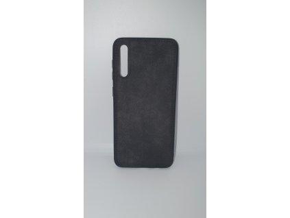 Forcell Denim prešivaný obal - Samsung A70 čierny