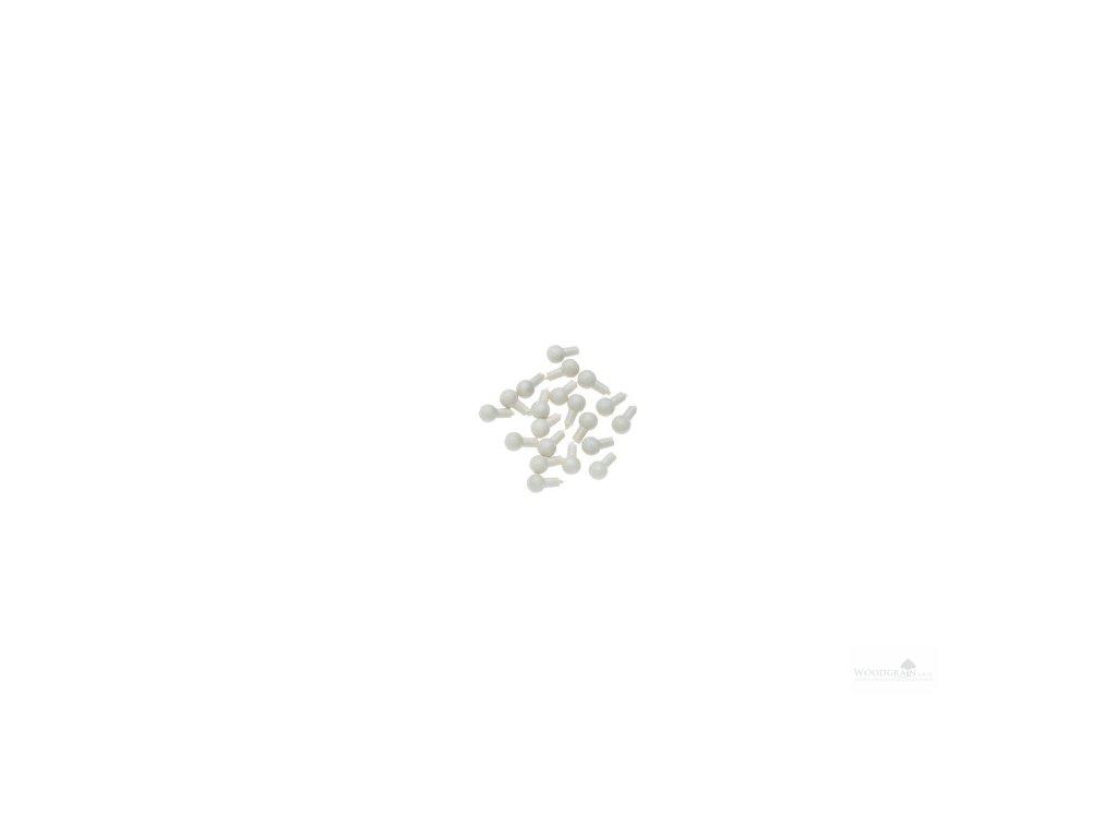 Ozdobné knoflíky pro kolíčky a žaludy - bílé 20 ks) housle/viola