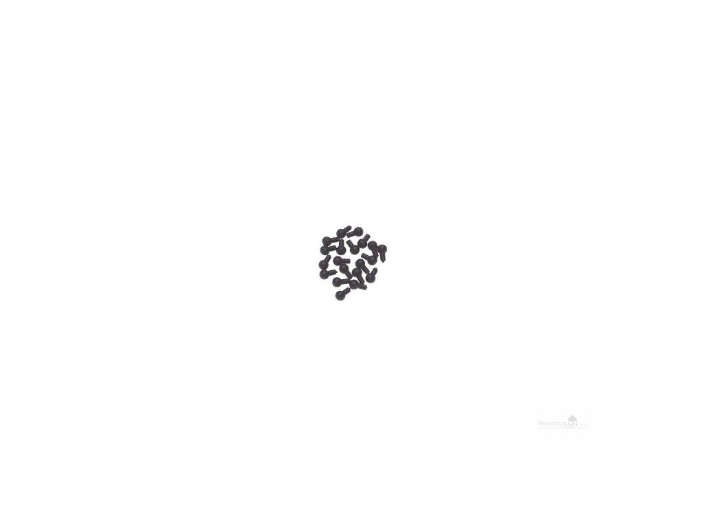 Ozdobné knoflíky pro kolíčky a žaludy - černé (20 ks) housle/viola