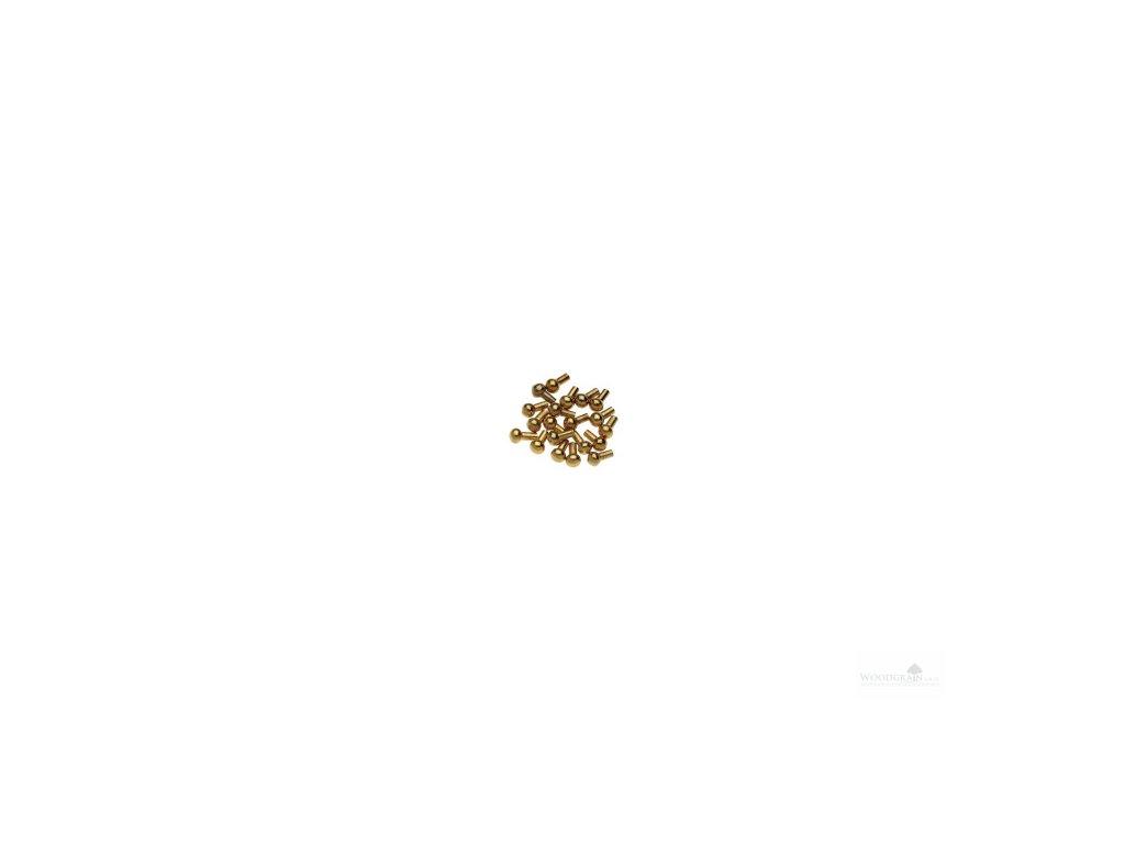 Ozdobné knoflíky pro kolíčky a žaludy - pozlacené (20 ks) housle/viola