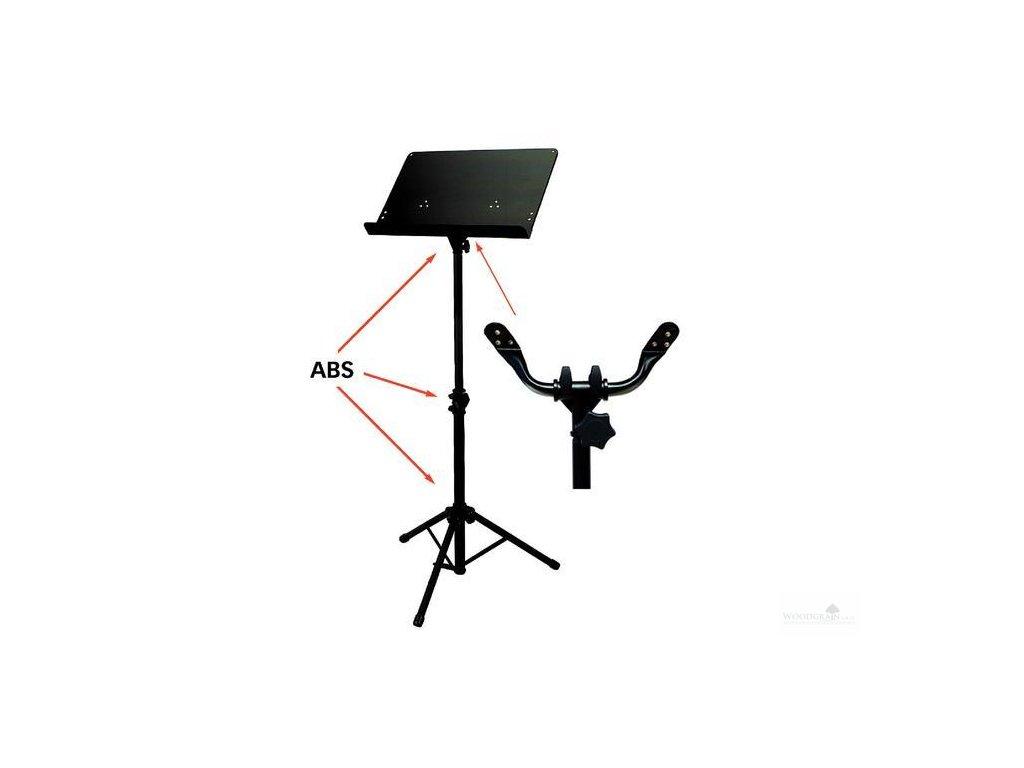 Notový pult BSX orchestrální - plná deska - černý