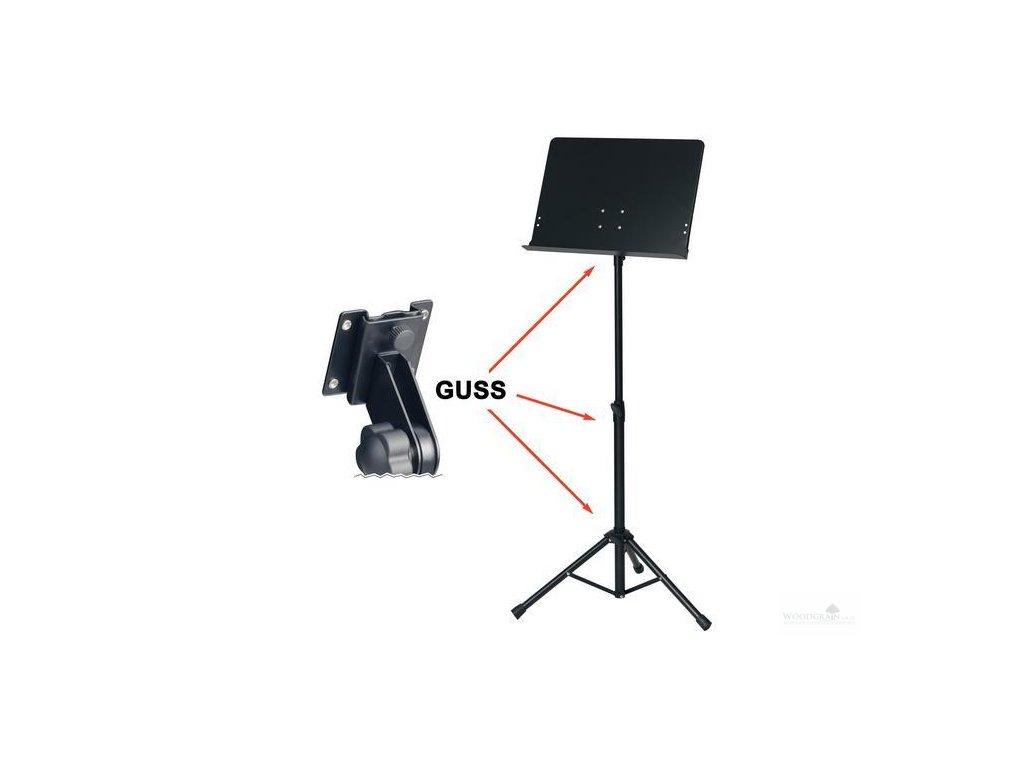 Notový pult BSX orchestrální (pevné provedení) - plná deska