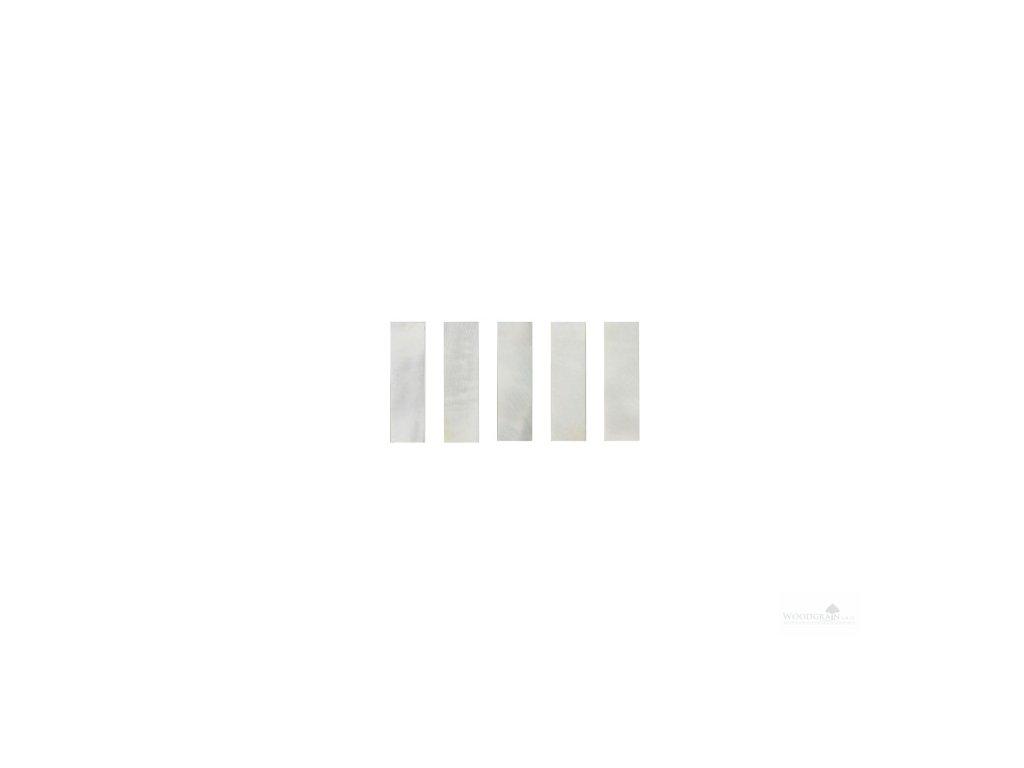 Perleťový krycí plátek žabky - Makassar bílý (sada 5 ks)