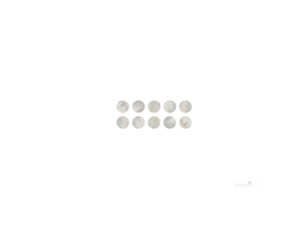 Perleťové očko Makassar - bílé (sada 10 ks)