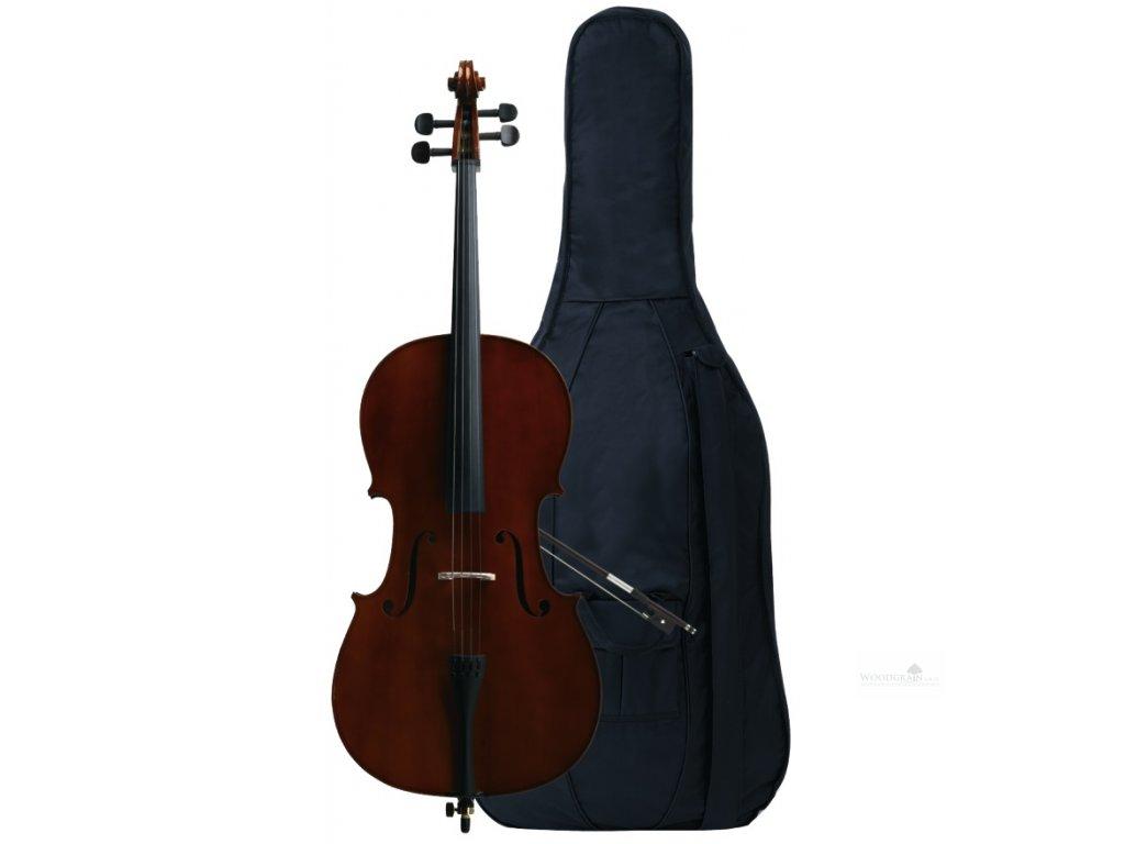 Violoncellový komplet - hratelné provedení z dílny GEWA - garnitura eben