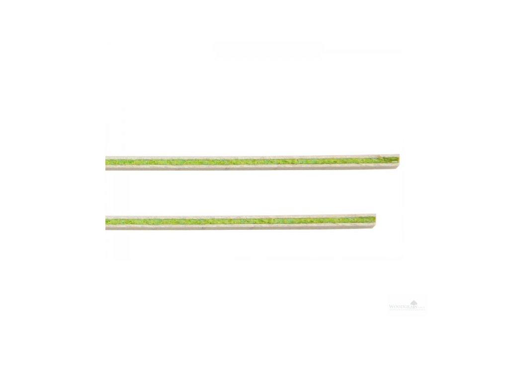 Kytarové výložky - sada (2 ks) - bílá/zelená/bílá